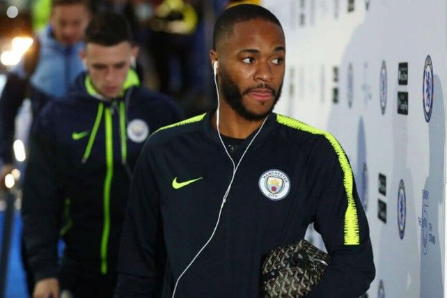 IN THE ZONE: Raheem looked focused ahead of kick-off