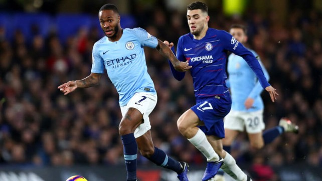 RACING CLEAR: Sterling shows his pace early on