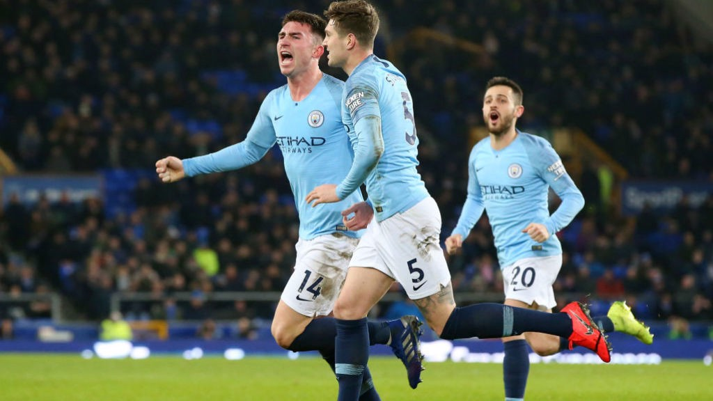 MESMERIC AYMERIC: The Frenchman celebrates putting us ahead
