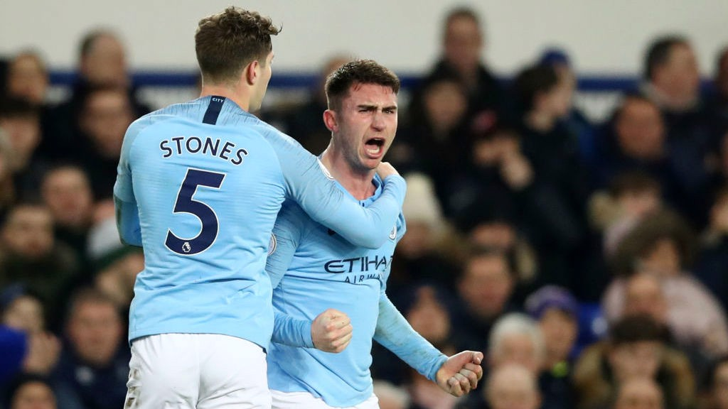 GOAL! Laporte is clearly delighted to grab his second league goal this season