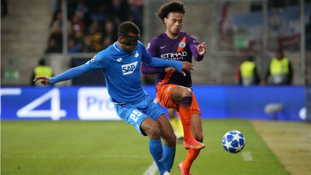 GERMAN BITE: Leroy Sane puts his body on the line