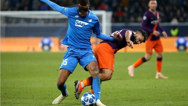 POWER SERGE: Kun looks to wrestle back possession