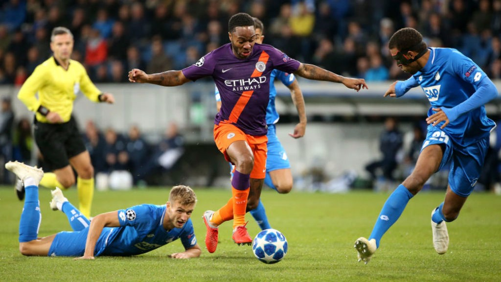 ACTION MAN  Raheem Sterling causes havoc amongst the Hoffenheim defence 55128781a9ba4
