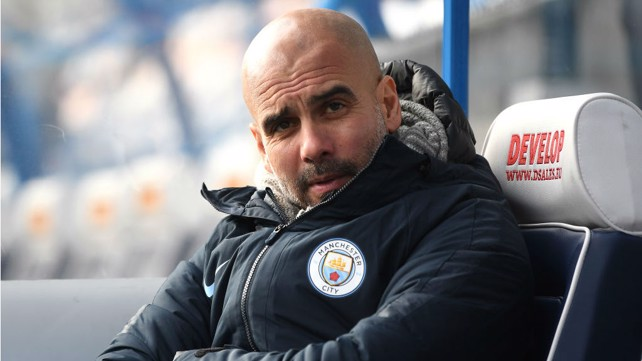 WATCHING BRIEF: Pep Guardiola is in relaxed mood ahead of kick-off at the John Smith's Stadium