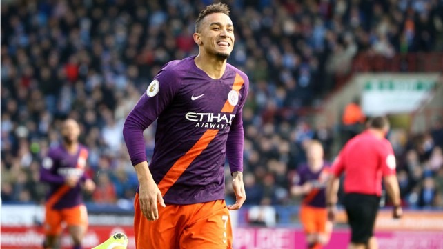 100 CLUB: Danilo celebrates after bringing up a century of goals for the Blue this season