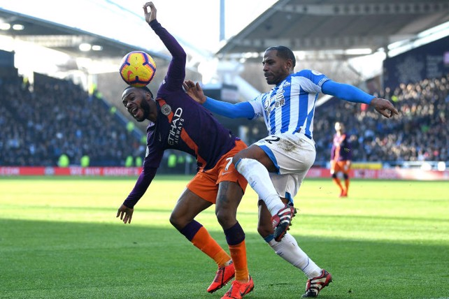 PAIN GAME: Raheem Sterling feels the effect of this Jason Puncheon challenge