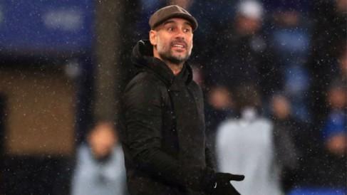 GUIDING VOICE: Pep Guardiola urges City on
