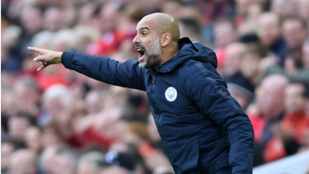 ANFIELD POINTER: Pep Guardiola urges City on