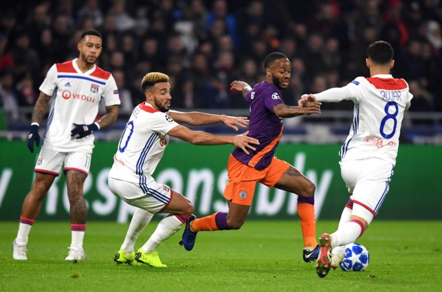 RUNNING FREE: Raheem Sterling looks to take the fight to Lyon