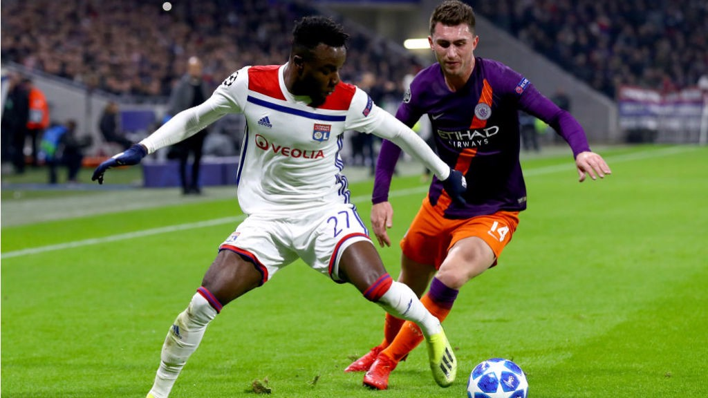 WATCHING BRIEF: Aymeric Laporte keeps tabs on the Lyon attack