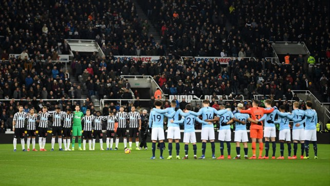 MORE THAN A GAME: A minute's silence is observed in honour of Cardiff striker, Emiliano Sala