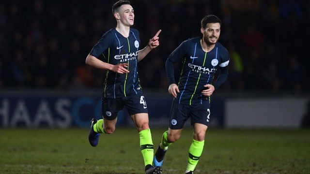 STARLET: Phil Foden shines at Rodney Parade.