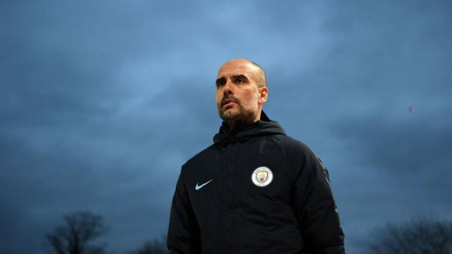 BOSS: Pep Guardiola looks on at Rodney Parade.