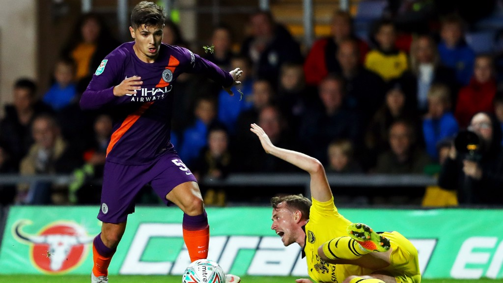 YOUNG STAR: Brahim Diaz shone on the left of midfield