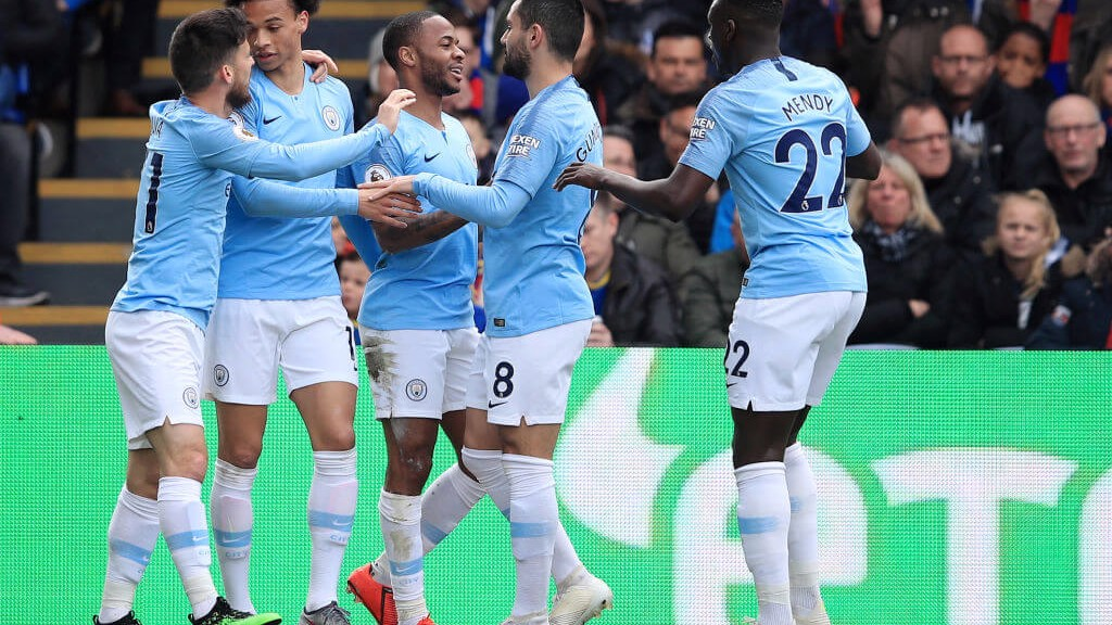 20 UP: Raheem Sterling opens the scoring