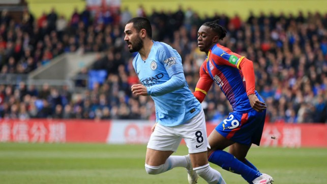 ON THE RUN: Ilkay Gundogan chases after the ball.