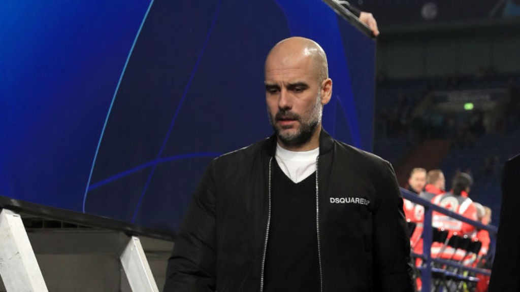 Pep arrives at the VELSTIN-Arena ahead of Schalke clash