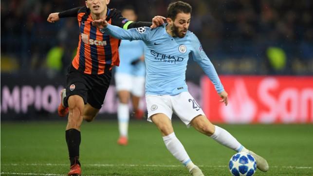 SILVA STREAK: Bernardo drills home City's third goal