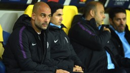 WATCHING BRIEF: Pep Guardiola keeps a careful eye on proceedings