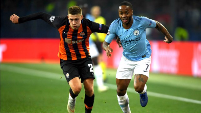 FORWARD MARCH: Raheem Sterling looks to get City motoring once again