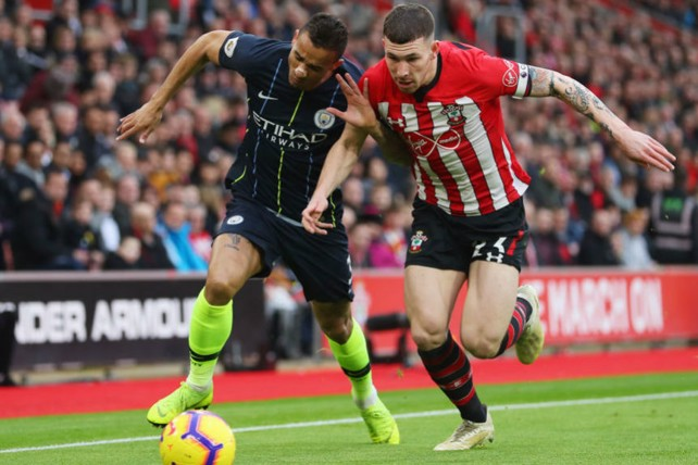 ACTION STATIONS: Danilo challenges Pierre-Emile Hojbjerg
