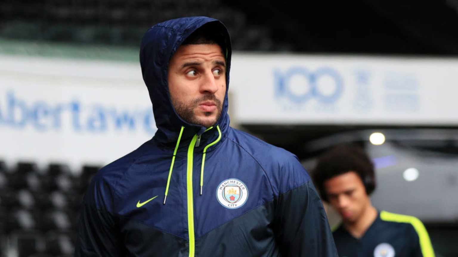 WALK ON THE WILD SIDE: Kyle Walker takes a glance at the Liberty Stadium surrounds