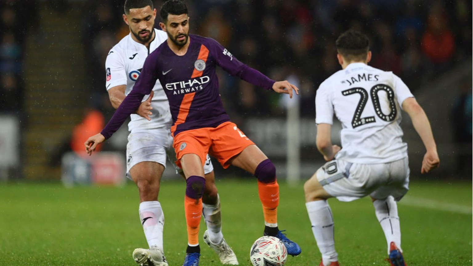CENTRE POINT: Riyad Mahrez looks to get City on the front-foot