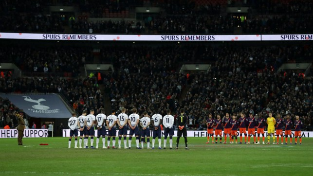 REMEMBRANCE: A minutes silence before kick-off.