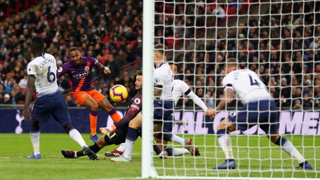 CHANCE: Sterling goes close in the second half.