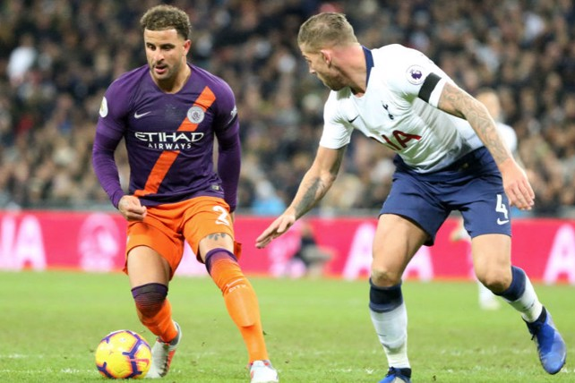 HEAD-TO-HEAD: Kyle Walker faces his former club.