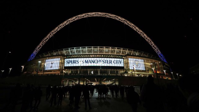 WEMBLEY: The stage is set.