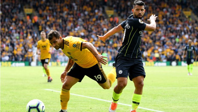 NOT THIS TIME: Sergio Aguero is denied as City turn up the pressure