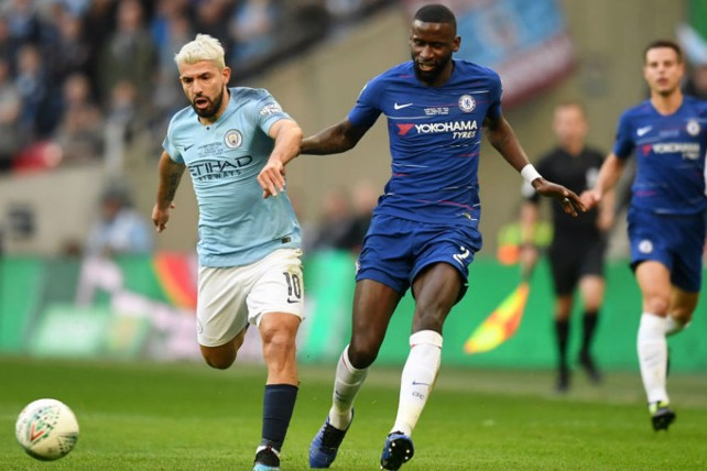 POWER SERGE: Kun looks to get City on the front foot