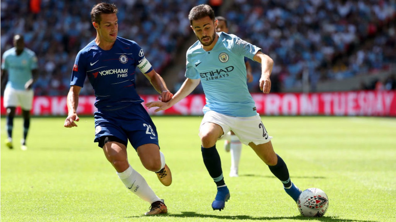 SILVA SALVO: Bernardo Silva, who produced an excellent individual display, looks to cause Chelsea yet more problems
