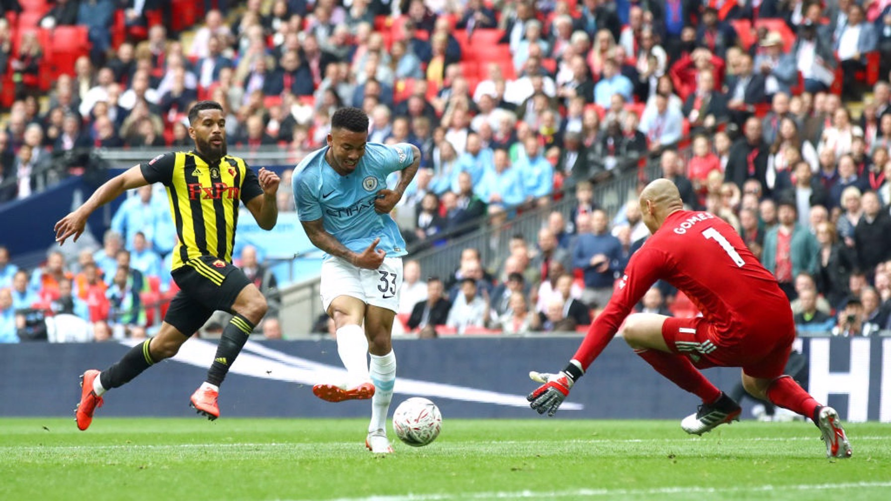 NO DOUBT: There's no questioning who scored City's fourth