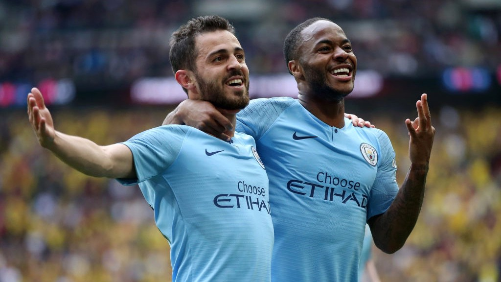 IN THE BAG: Raheem bags his second