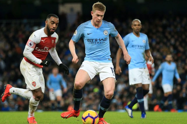 IN CONTROL: De Bruyne looks to get City on the front foot