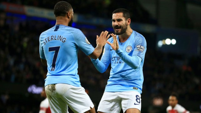 GET IN: Raheem and Ilkay celebrate