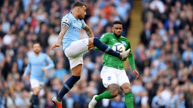 THE GENERAL: Nico shows his defensive qualities up against Jurgen Locadia