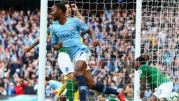 STERLING FINISH: It's that man Raheem again! His tap-in put City ahead