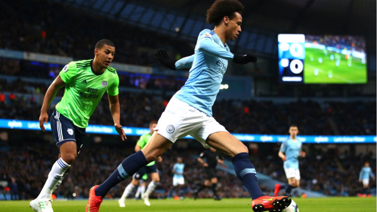 WING COMMAND: Leroy Sane takes control of the ball