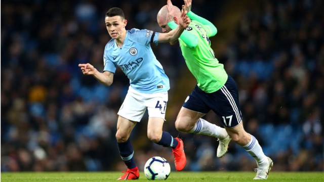 NIGHT TO REMEMBER: Phil Foden was handed his first Premier League start against the Bluebirds