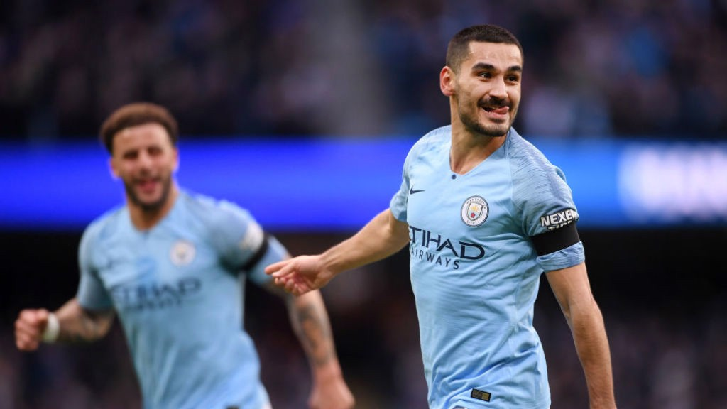 Ilkay Gundogan makes it four inside 30 minutes!