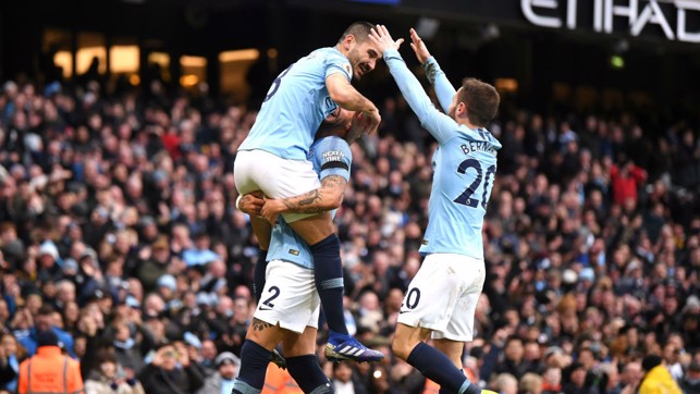 MAKE THAT FOUR: Ilkay Gundogan gets in on the goal scoring action.