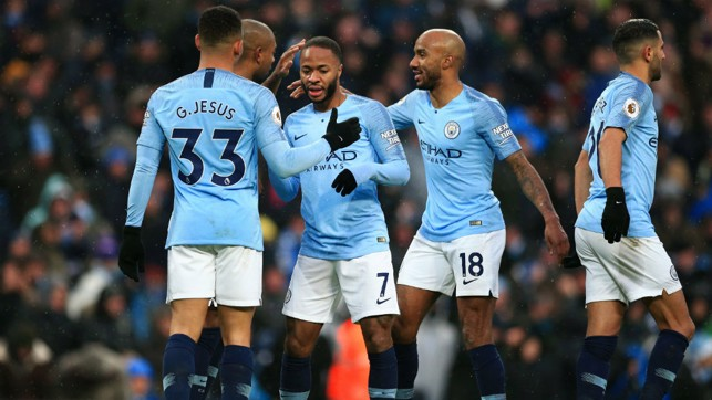 PERFECT RESPONSE: City knock in their third after Everton bag a goal.