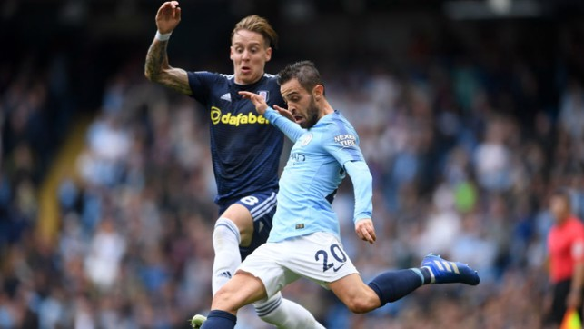 SILVA SHINES: Bernardo excelled again in a central role