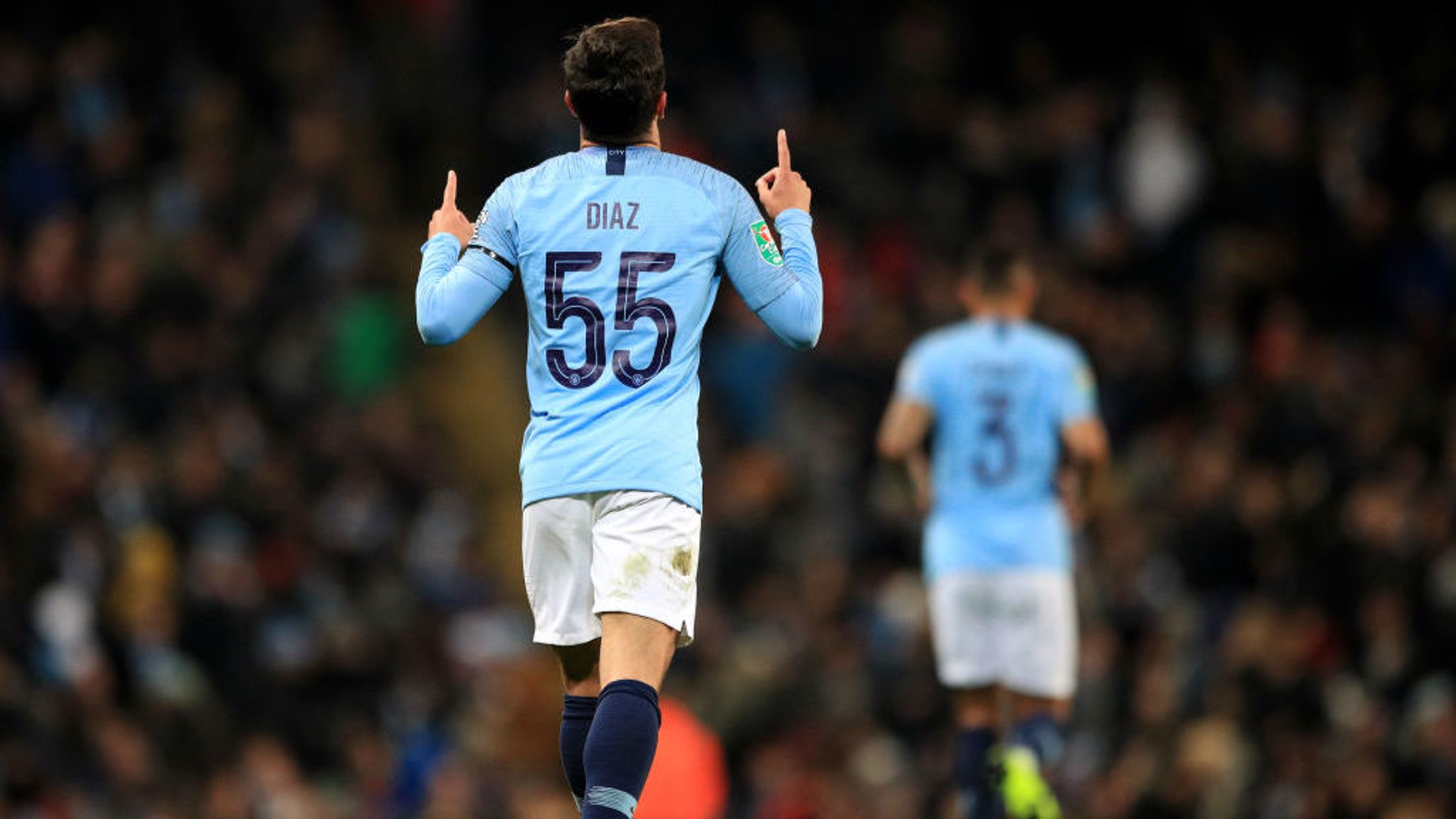 REMEMBER THE NAME: Brahim Diaz scores his first senior goal for City.