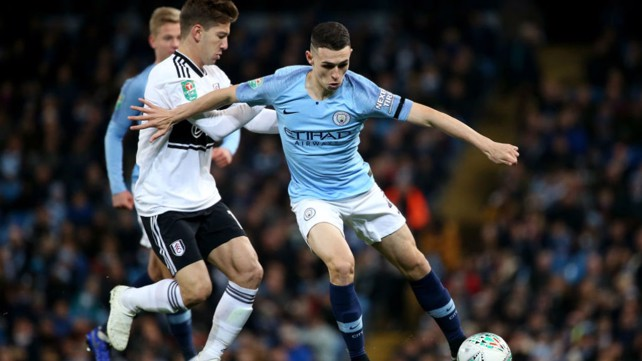 HE'S ONE OF OUR OWN: Phil Foden in action.