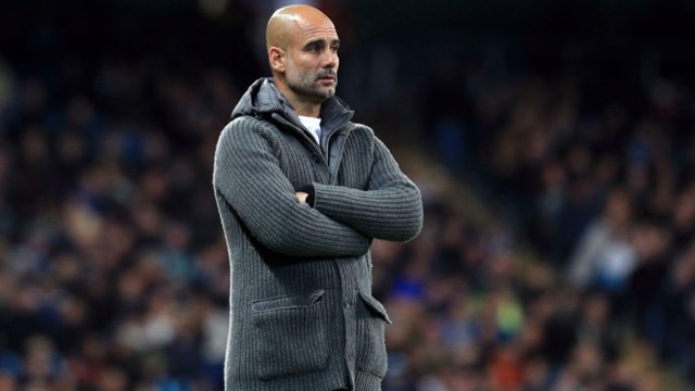 PEP:  The boss looks on as we take on Fulham.