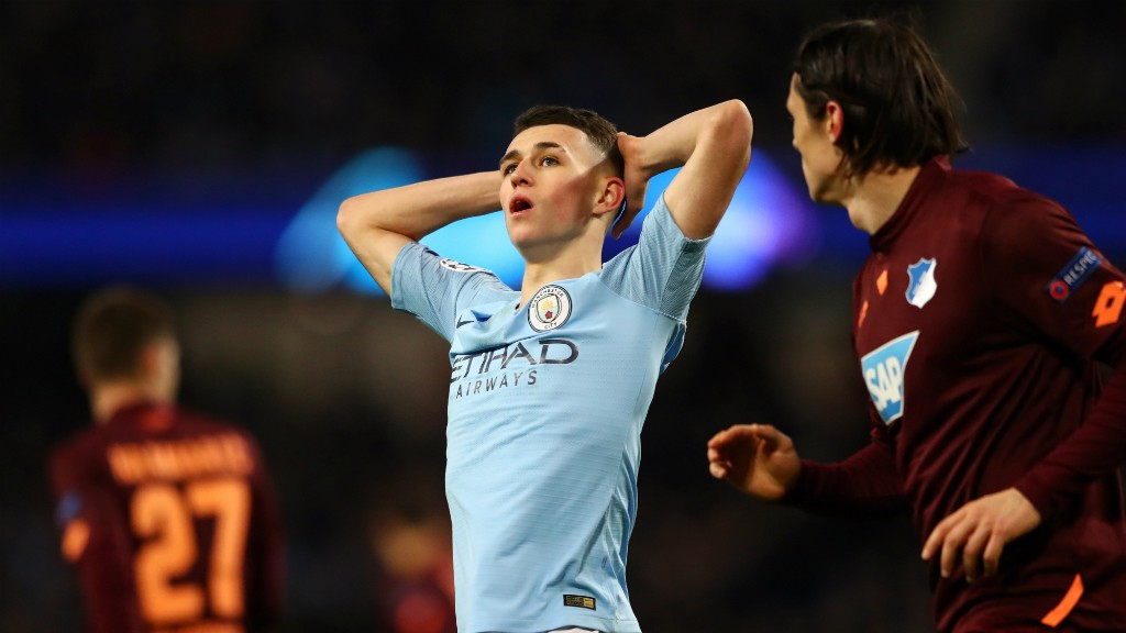 ALMOST!: Foden almost marked a memorable week with a wondergoal - only for the fingertips of Oliver Baumann